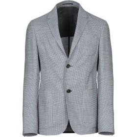 《期間限定セール開催中!》ZZEGNA メンズ テーラードジャケット ブルー 50 コットン 55% / ウール 43% / ナイロン 1% / ポリウレタン 1%