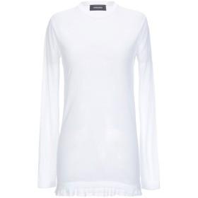 《期間限定セール開催中!》DSQUARED2 レディース T シャツ ホワイト XS コットン 75% / ナイロン 25%