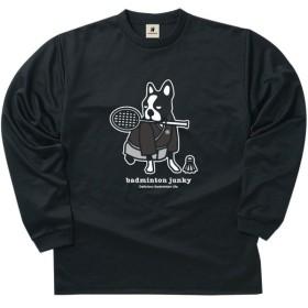 soccer junky(サッカージャンキー) ロングDryTEE サムライ犬 BDJ18512 ブラック M