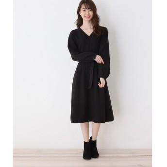 index / インデックス 【洗濯機洗いOK】フィットフレアワンピ