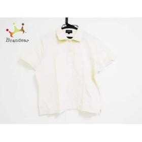 バーバリーゴルフ 半袖ポロシャツ サイズL レディース 美品 アイボリー×ベージュ×マルチ   スペシャル特価 20190704