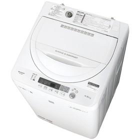 シャープ4.5kg全自動洗濯機keywordキーワードホワイトESG4E6KW
