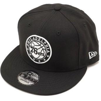 ニューエラ キャップ NEWERA NBA フィラデルフィア・セブンティーシクサーズ 9FIFTY PHI76EL LOGO スナップバック 帽子 ブラック 11876724 FW18