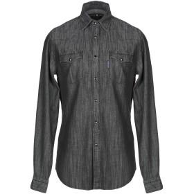 《セール開催中》HYDROGEN メンズ デニムシャツ ブラック S コットン 100%