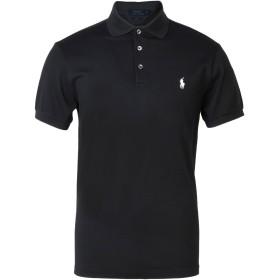 《セール開催中》POLO RALPH LAUREN メンズ ポロシャツ ブラック M コットン 97% / ポリウレタン 3% Slim fit cotton mesh Polo shirt