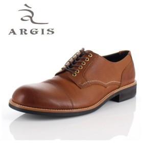 アルジス 靴 レザーシューズ メンズ 本革 ストレートチップ 外羽根式 ブラウン 71140 ハトメ カジュアル 革靴 短靴 日本製