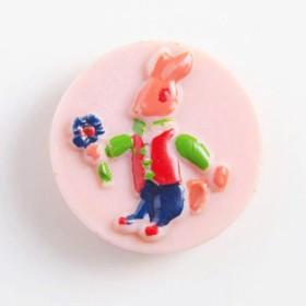 ヴィンテージボタン ピンクウサギ ~ Made in Italy