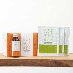 【華密恋】国産カモミールの薬用入浴剤50ml×3包とハーブドリンク10本