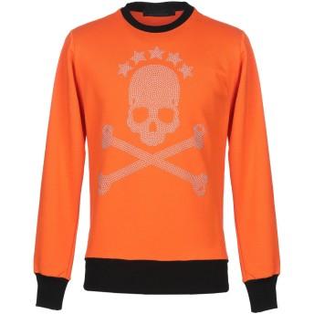 《期間限定セール開催中!》BAD SPIRIT メンズ スウェットシャツ オレンジ XS コットン 100%