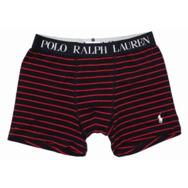 POLO RALPH LAUREN  (ポロ・ラルフローレン) RM3-L311 KNIT BOXER [ボクサーパンツ][メンズ][ギフト] BLACKxRED 245-000230-041(パンツ)