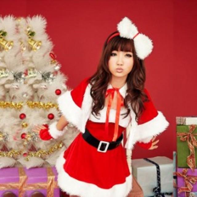 クリスマス サンタ サンタクロース リボン カチューシャ【即日発送可能】sdg011s(sdg011s)