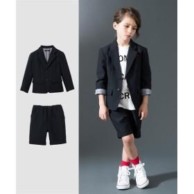 【卒園式。入学式】フォーマルスーツ(ジャケット+5分丈パンツ)(男の子 子供服) フォーマル(入学式・卒業式)