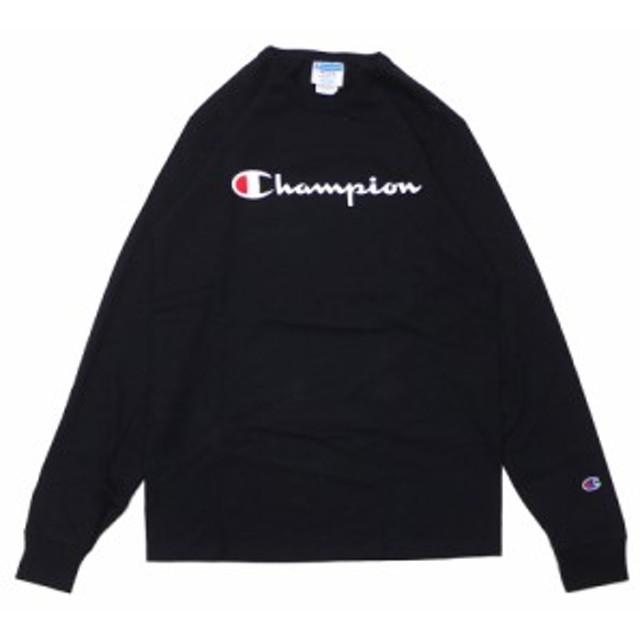 チャンピオン Champion Long Sleeve Tee 長袖Tシャツ ロンティー USA企画 海外限定 BLACK ブラック 黒 メンズ 999005714041 TOPS