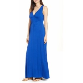 ラブアペラ ドレス カジュアルドレス レディース【LOVEAPPELLA V-Neck Jersey Maxi Dress】Blue Mazarine