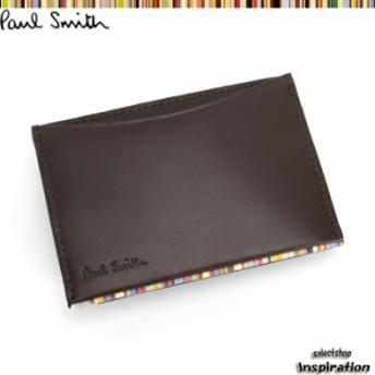 展示品箱なし ポールスミス パスケース 定期入れ カードケース 茶 psu051-70 ブラウン メンズ 紳士