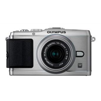 【中古 保証付 送料無料】OLYMPUS ミラーレス PEN E-P3 レンズキット シルバー / デジタルカメラ ミラーレス一眼/一眼レフカメラ/初心者