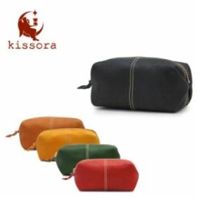 キソラ ポーチ L カナメ ナチュラル レディース KIKS-019 kissora 本革 レザー 日本製