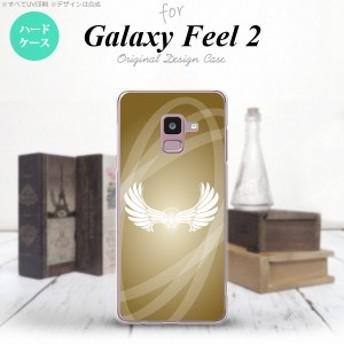 Galaxy Feel 2 ギャラクシー フィール 2 SC-02L スマホケース ハードケース 翼(光) ゴールド nk-sc02l-462