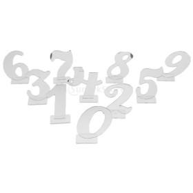 10個セット テーブル番号 ナンバー 0-9 数字 アクリル製 テーブル装飾 全2色 - 銀