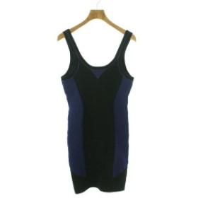 ALEXANDER WANG  / アレキサンダーワン レディース ワンピース 色:黒系x青系 サイズ:S