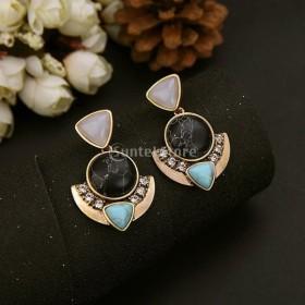 豪華な ファッション 女性 誇張 水晶 宝石のペンダント 耳のスタッド ピアス