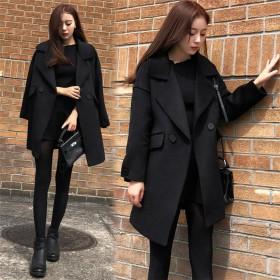 2018新柄追加 韓国ファッション CHIC気質 防寒 暖かい ウールコート
