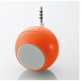 ELECOM スマホ用モノラルスピーカー iPhone USB充電式 オレンジ ASP-SMP050DR エレコム