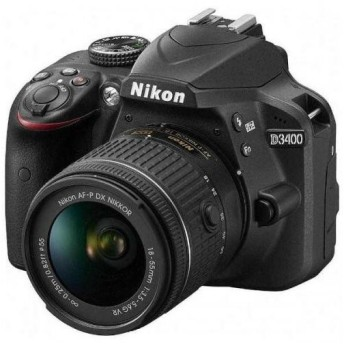 Nikon デジタル一眼レフカメラ D3400 18-55 VR レンズキット ブラック D3400LKBK ニコン