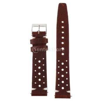 全6種類 メンズ PU 腕時計バンド ウオッチストラップ 交換用ベルト 時計留め金 交換工具 - コーヒー色, 20mm