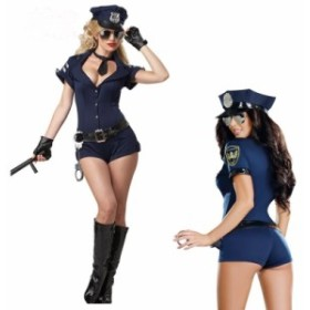 警察 婦警 ハロウィン コスプレ ポリス 仮装 ハロウィン 衣装 ミニスカポリス セクシー  制服 コスチューム 女性 5611