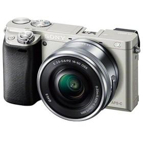 SONY ミラーレス一眼カメラ α6000 パワーズームレンズキット シルバー ILCE-6000LS ソニー
