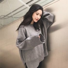 【ゆったりサイズ】秋冬ファッションニット長袖セーター