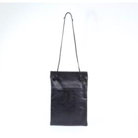 【送料無料】 タンニンレザー ワンショルダーバッグ ブラック charlotte