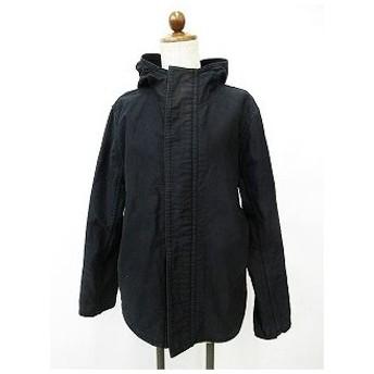 ワイズビスリミ Y's bis LIMI ブルゾン ジャケット ジャンパー フード ダブルジップアップ 裏ボア コットン ブラック 黒 S