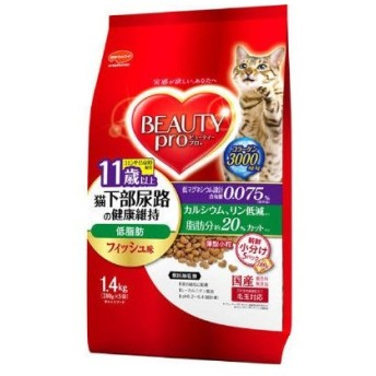 箱売り ビューティープロ(Beauty Pro)猫用 猫下部尿路 低脂肪 11歳以上 1.4kg 6袋 日本ペットフード
