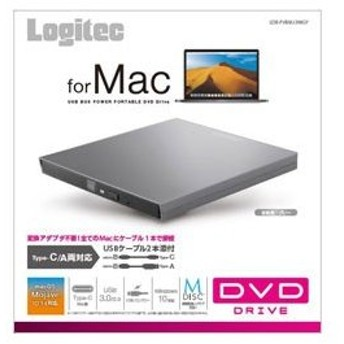 ロジテック LDR-PVB8U3MGY DVDディスクドライブ M-DISC対応 [USB3.0 TypeCケーブル付/グレー]