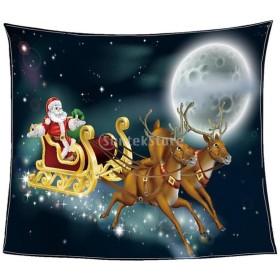 Perfk クリスマス 毛布 ソフト ウォーム フランネル ブランケット 豪華 可愛い きれい クリスマス 装飾 暖かい 雰囲気 多種類選べる - 2#