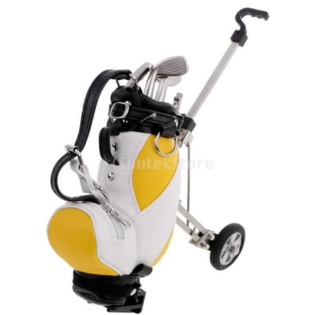 ミニデスクトップ ゴルフカート型 バッグ ペンホルダー ペンケース ゴルフクラブ型 ペン ノベルティ ギフト
