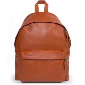《送料無料》EASTPAK Unisex バックパック&ヒップバッグ 赤茶色 革 100%