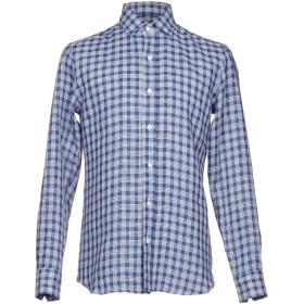 《期間限定 セール開催中》SALVATORE PICCOLO メンズ シャツ ダークブルー 41 麻 100%