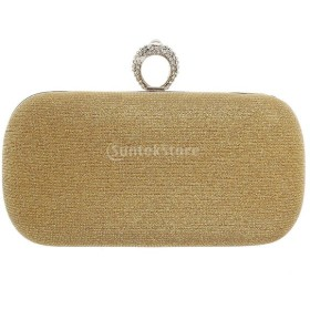 a024db95411e 女性 宴会 パーティー クラッチ 財布 ハンドバッグ ショルダーチェーン 鞄 贈り物 全2色 ...