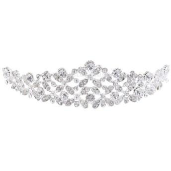 結婚式 女性 ブライダル ヘアアクセサリー 豪華な エレガントな クリスタル ラインストーン 王冠 ティアラ 全3タイプ - 3