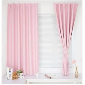 Lovoski ピンチプリーツカーテン ウィンドウカーテン ブラインドカーテン 魅力的 全5色3サイズ - ピンク, 100x250cm