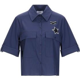 《セール開催中》JIJIL レディース シャツ ブルー 44 コットン 69% / ナイロン 28% / ポリウレタン 3%