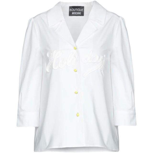 《期間限定 セール開催中》BOUTIQUE MOSCHINO レディース シャツ ホワイト 38 コットン 96% / 指定外繊維 4%