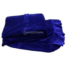 ベルベット ピアノカバー 全7色 - 青