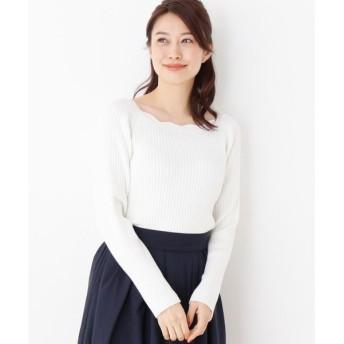 index / インデックス 【洗濯機洗いOK】スカラップネックプルオーバー