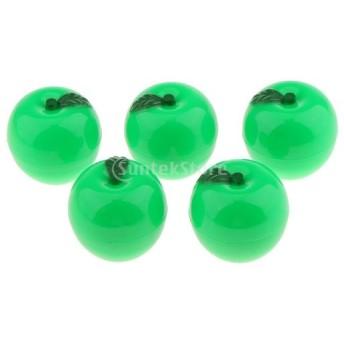 リップバームセット 5個 乾燥唇対策 フルーツ フレーバー ナチュラル 保湿 リップクリーム 2タイプ選べ - 緑
