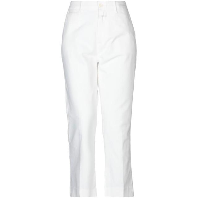 《期間限定セール開催中!》CLOSED レディース パンツ ホワイト 24 100% コットン