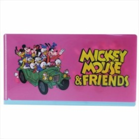 ミッキーマウス&フレンズ ミニファイル マルチファイル 車 ディズニー チケットケース キャラクター グッズ メール便可